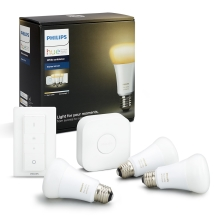 Induló készlet Philips HUE WHITE AMBIANCE 3xE27/9,5W/230V