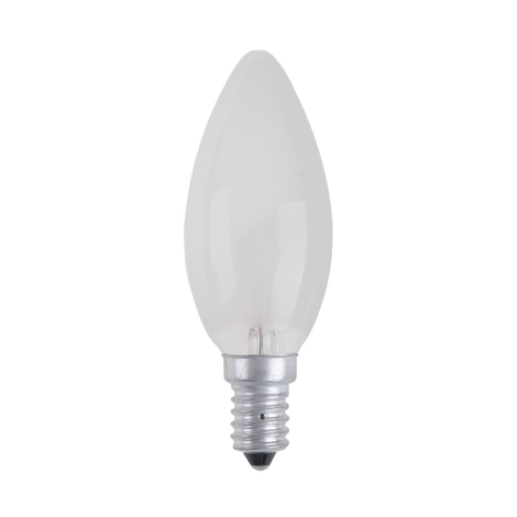 Ipari izzó CANDLE FROSTED E14/25W/230V