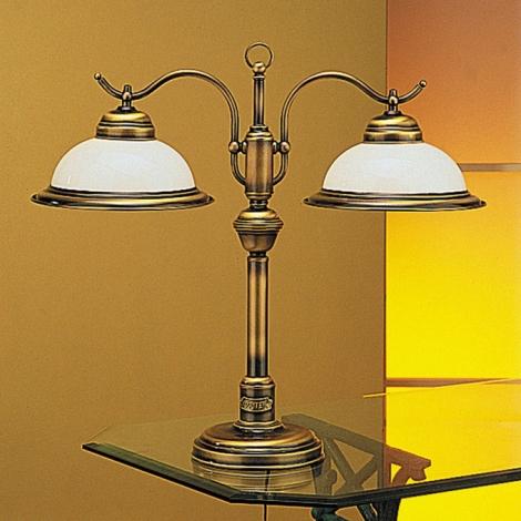 Jupiter 17 - OG2 - Asztali lámpa OPÁL 2xE27/60W/230V