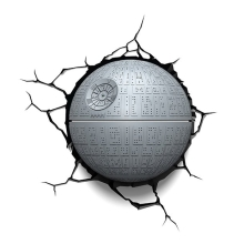 Kanlux 15216 - Gyereklámpa 3D STAR WARS DEATH STAR LED/3xAA