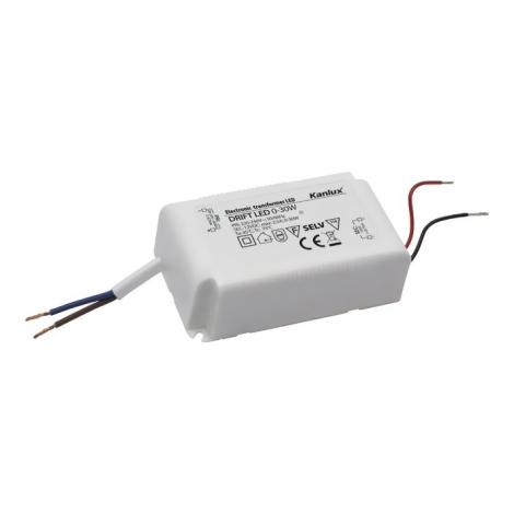 Kanlux 18041 - Elektromos transzformátor DRIFT 0-30W/12V