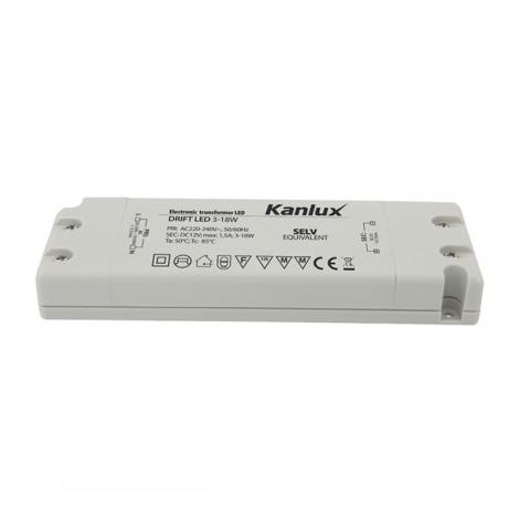 Kanlux 8550 - Elektromos transzformátor DRIFT 3-18W/12V