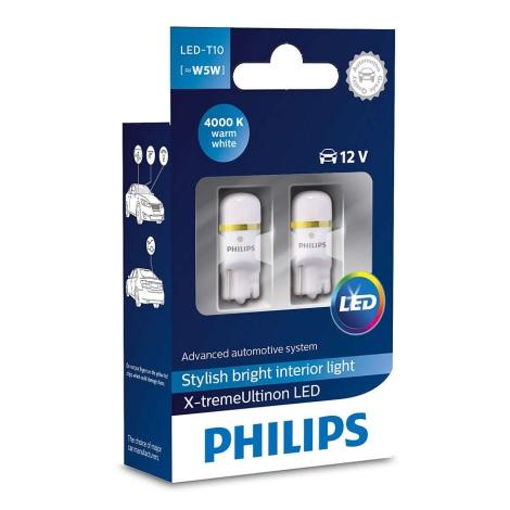 Készlet 2 x autó izzó Philips X-TREMEULTION 127994000KX2 T10 W2,1x9,5d/0,8W