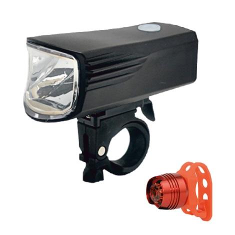 KÉSZLET 2 x LED tölthető kerékpárlámpa LED/5W/USB