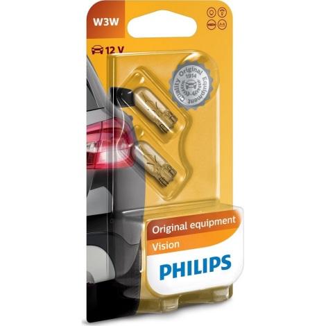 KÉSZLET 2x Autó izzó Philips VISION 12256B2 W2,1x9,5d/3W/12V