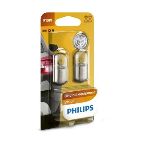 KÉSZLET 2x Autó izzó Philips VISION 12814B2 BA15s/10W/12V