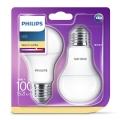 KÉSZLET 2x LED izzó Philips E27/13W/230V 2700K