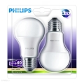 Készlet 2x LED Izzó Philips E27/6W/230V 2700K
