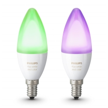 KÉSZLET 2x LED RGB Dimmelhető izzó Philips HUE WHITE AND COLOR AMBIANCE E14/6W/230V