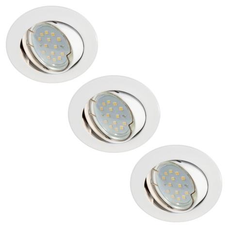 KÉSZLET 3x LED Fürdőszobai lámpa 3xLED-GU10/3W/230V + 3xGU10/50W