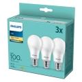 KÉSZLET 3x LED Izzó Philips A67 E27/14W/230V 2700K
