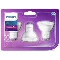 KÉSZLET 3x LED Izzó Philips GU10/5W/230V 2700K