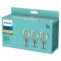KÉSZLET 3x LED Izzó VINTAGE Philips A60 E27/7W/230V 2700K