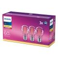 KÉSZLET 3x LED Izzó VINTAGE Philips E27/7W/230V 2700K