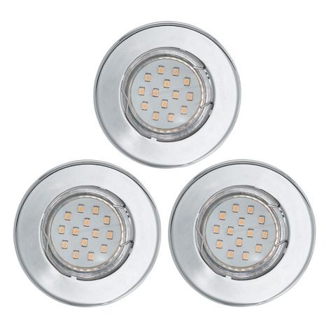 KÉSZLET 3x LED mennyezeti lámpa IGOA 1xGU10/3W/230V fényes króm
