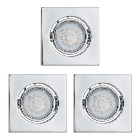 KÉSZLET 3x LED mennyezeti lámpa IGOA 1xGU10/5W/230V fényes króm