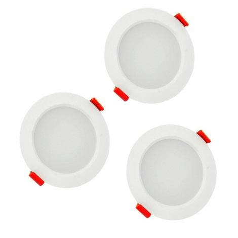 KÉSZLET 3xLED Fürdőszobai beépíthető lámpa MIRO LED/6W/230V IP44