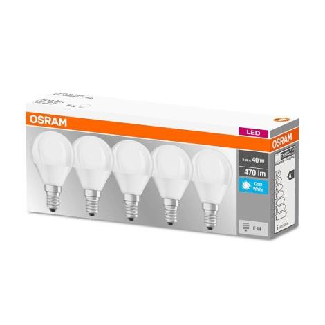 KÉSZLET 5x LED Izzó BASE P40 E14/5W/230V 4000K - Osram