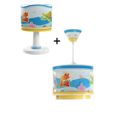 Klik 6033 - AQUARIUM asztali lámpa 1xE14/40W + csillár 1xE27/60W