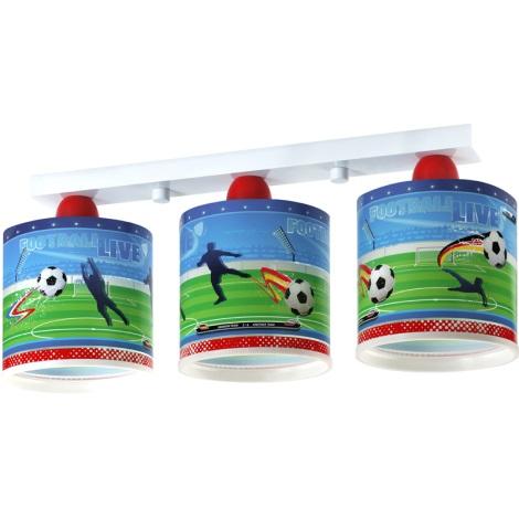 Klik 60463 - FOOTBALL mennyezeti lámpa 3xE27/60W