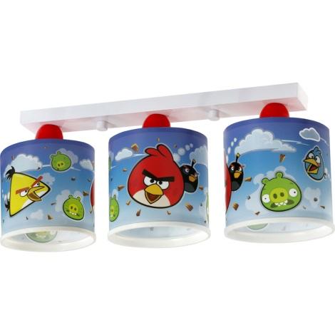 Klik 60883 - ANGRY BIRDS gyerek mennyezeti lámpa 3xE27/60W