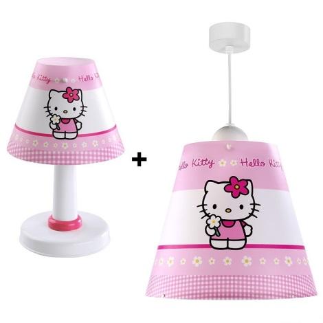 Klik 63244 - HELLO KITTY gyerek csillár + asztali lámpa 1xE27/60W