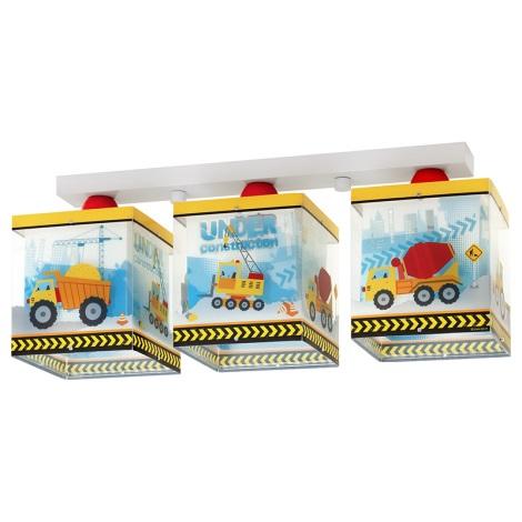 Klik 63613 - Gyermek mennyezeti lámpa CONSTRUCTOR 3xE27/60W/230V
