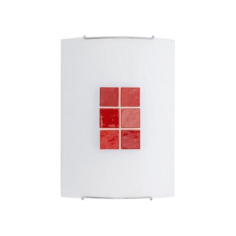 KUBIK 3 RED fali lámpa 1xE27/100W