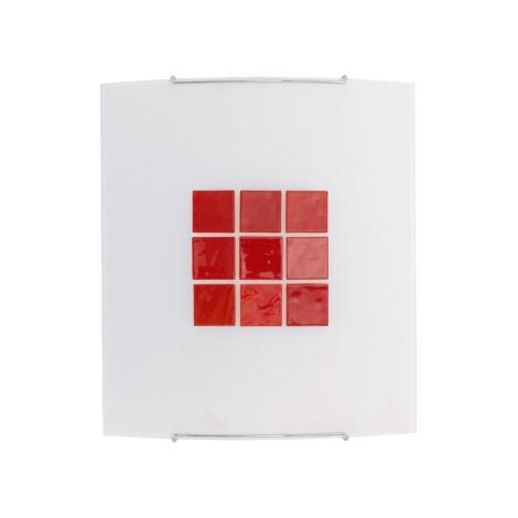 KUBIK 5 RED fali lámpa 1xE27/100W