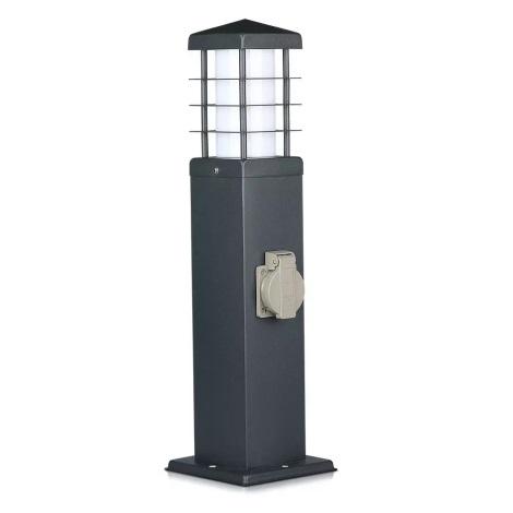 Kültéri oszlop lámpa konnektorokkal 1xE27/13W/230V IP44