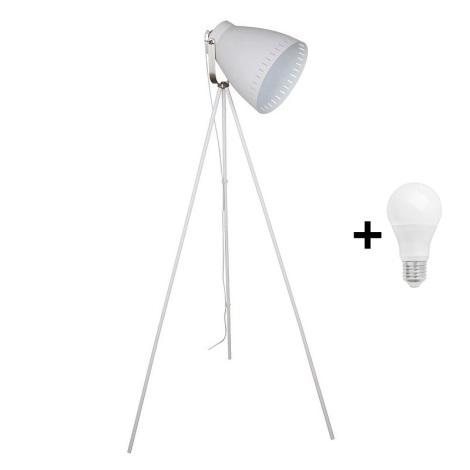 LED Állólámpa 1xE27/10W/230V fehér 145cm