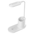 LED Asztali lámpa LED/3W/5V vezeték nélküli töltéssel fehér