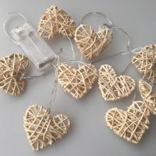 LED Dekor lánc RATTAN HEART LED/2xAA