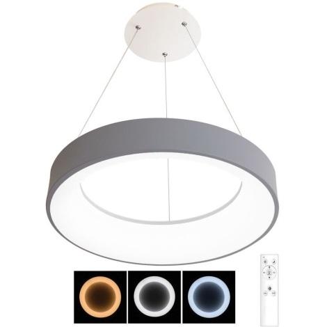 LED Dimmelhető csillár zsinóron NEST LED/40W/230V 3000-6500K szürke