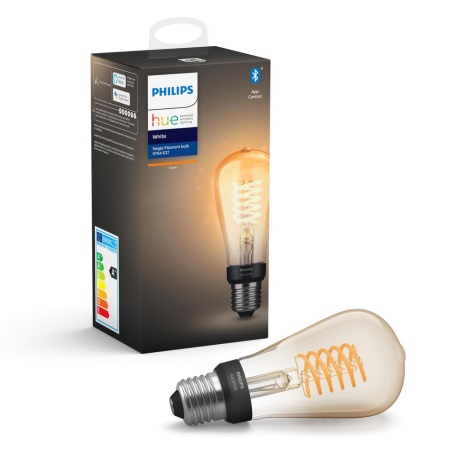 LED Dimmelhető izzó Philips Hue WHITE FILAMENT ST64 E27/7W/230V 2100K