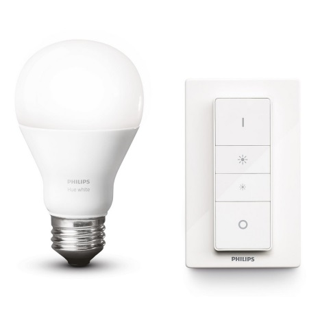LED Dimmelhező izzó Philips Hue WHITE A60 E27/9,5W/230V 2700K + távirányító