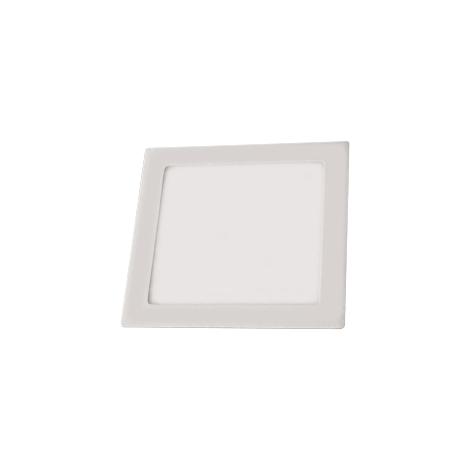 LED-es mennyezeti lámpa LED90 VEGA-S Ezüst SMD/18W meleg fehér négyzetes