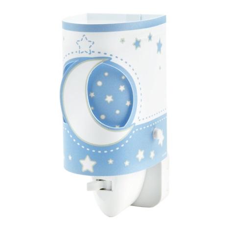 LED fali gyermek lámpa BLUE MOON 1xE14/0,5W LED