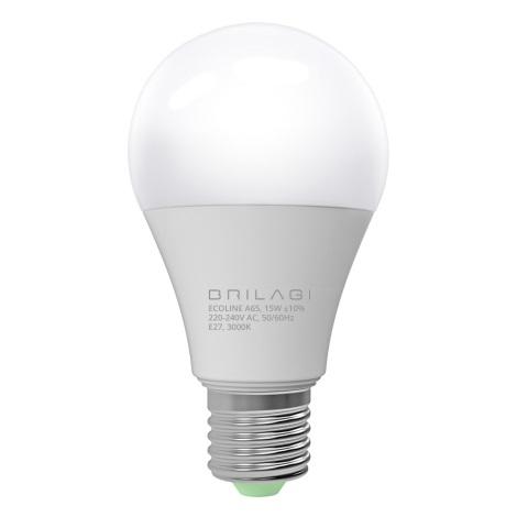 LED Izzó ECOLINE A65 E27/15W/230V 3000K - Brilagi