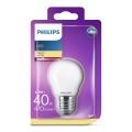 LED Izzó Philips P45 E27/4,3W/230V 3000K