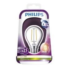 LED Izzó VINTAGE Philips E14/2,3W/230V 2700K