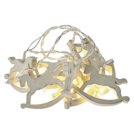 LED Karácsonyi lánc CHAIN 10xLED/0,6W/2xAA