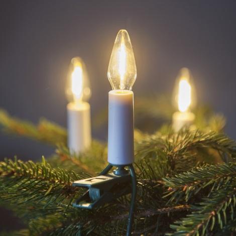 LED Karácsonyi lánc FELICIA FILAMENT 10,5 m LED/0,2W/230V/14V