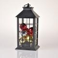 LED Kültéri karácsonyi szolár dekoráció LED/3xAAA IP44 fekete lámpás gömbökkel