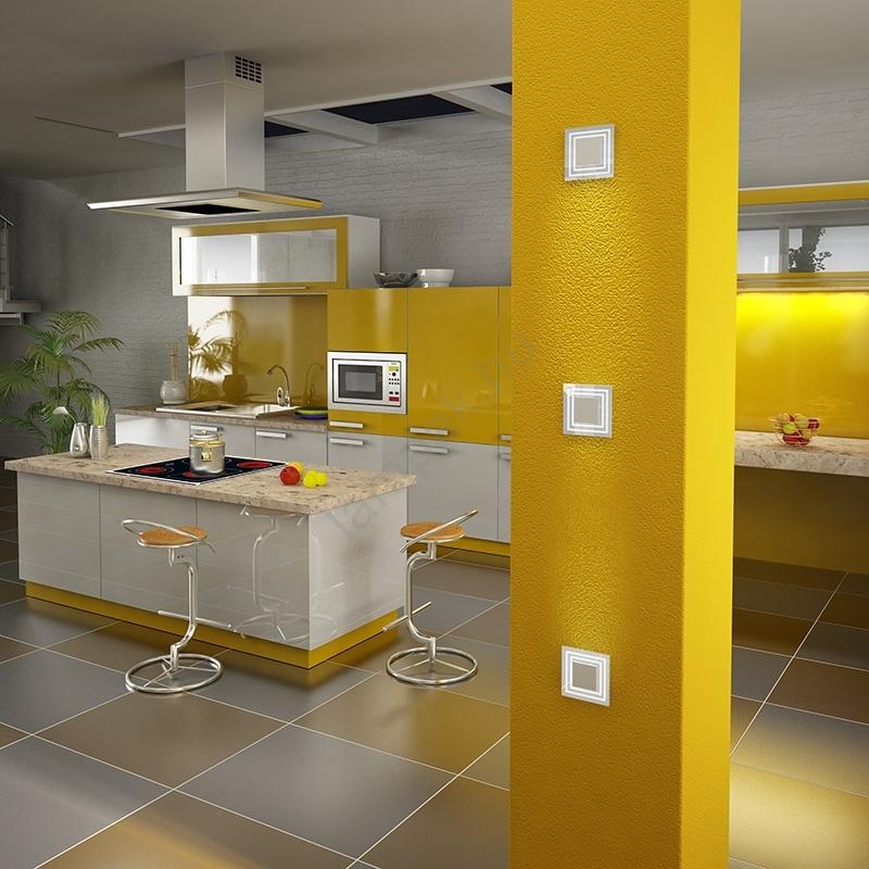 LED lépcső lámpa CRISTAL 01 6xLED/0,48W/12V rozsdamentes acél ...