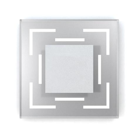 LED lépcső lámpa CRISTAL 02 6xLED/0,48W/12V rozsdamentes acél 6000K