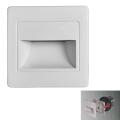 LED Lépcsőmegvilágító STEP LIGHT LED/1,5W/230V ezüst