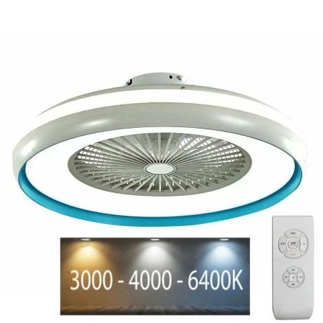 LED Mennyezeti lámpa ventilátorral LED/45W/230V 3000/4000/6500 kék