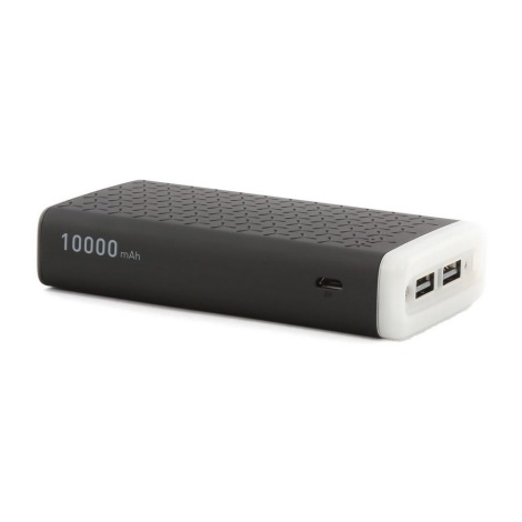 LED Power bank 10000 mAh/5V 2xUSB fekete