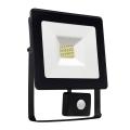 LED Reflektor érzékelős NOCTIS LUX SMD LED/10W/230V 900lm fekete IP44